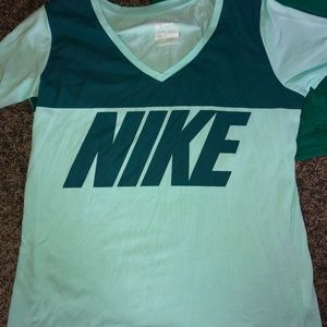 Nike Tops - Athletic V neck tops, size women's large/XL.